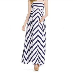 JESSICA SIMPSON Empire Waist Maternity Maxi Dress